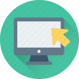 click, display, lcd, led, monitor icon