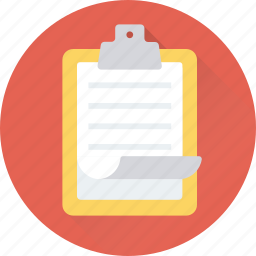 clipboard, memo, notes, sheet, text icon