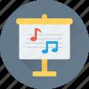 artboard, canvas, music, music board, notes icon