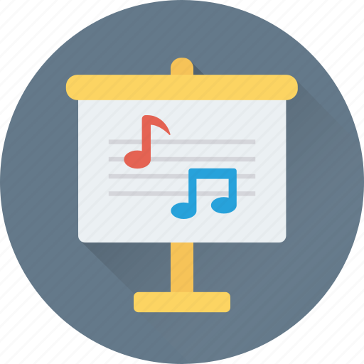 artboard, canvas, music, music board, notes icon