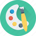 art, artist, paint brush, paint palette, painting icon