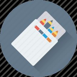 envelope, office supplies, pencil case, pencil envelope, stationery icon