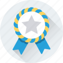 award, badge, emblem, ribbon badge, star icon