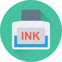 calligraphy, ink, ink jar, inkpot, writing icon