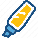 broad marker, highlighter, highlighter pen, marker, stationery icon