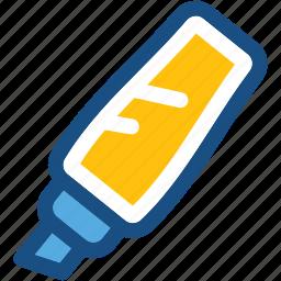 broad marker, highlighter, highlighter pen, marker, stationery icon