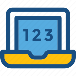 e learning, education, maths, online book, online study icon