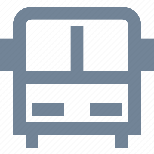 bus, education, front view, school, transportation, vehicle icon