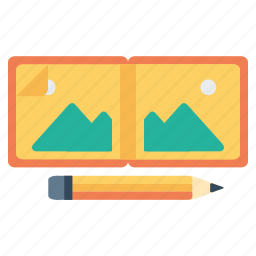 art, book, drawinf, gallery, pen, pencil, scrap icon