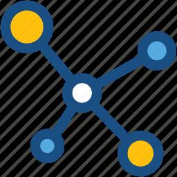 atom, atom bond, electron, molecule, science icon