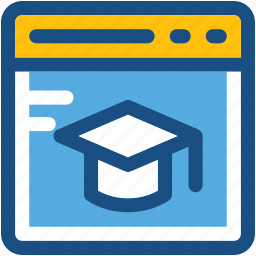 distance learning, e learning, mortarboard, online education, website icon