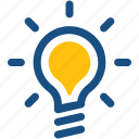 bulb, creative idea, idea, innovation, lightbulb icon