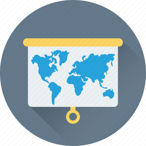 flipchart, geography, localization, map, world map icon