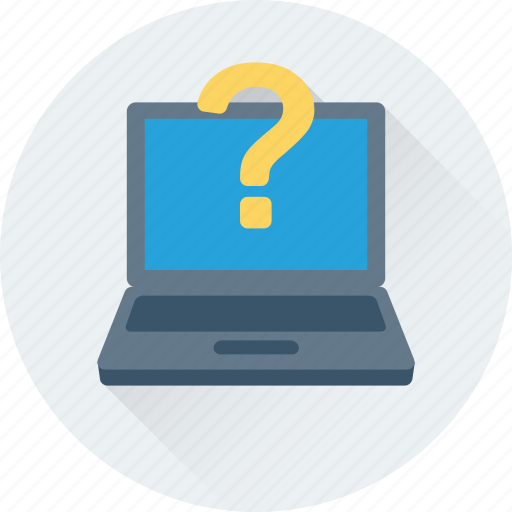 assist, computer, help, laptop, question icon