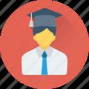 avatar, graduate, pupil, scholar, student icon