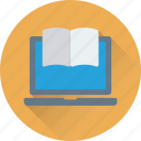 e learning, ebook, education, learning, online study icon