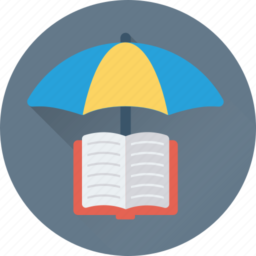 book, education, parasol, study, umbrella icon