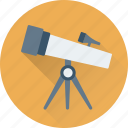 astronomy, spyglass, telescope, view, vision icon