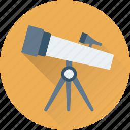 astronomy, spyglass, telescope, view, vision icon