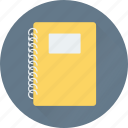 jotter, notebook, notepad, stationery, writing pad icon
