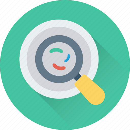 germs, magnifier, research, science, virus icon