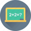 chalkboard, math class, maths, school, whiteboard icon