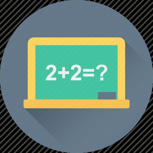 chalkboard, math class, maths, school, whiteboard icon
