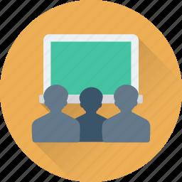 auditorium, classroom, lecture, presentation, training icon