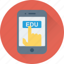 digital education, e learning, mobile, study app, technology icon