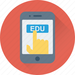 digital education, e learning, mobile, study app, technology icon