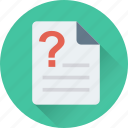 document, file, question, unknown, unnamed icon