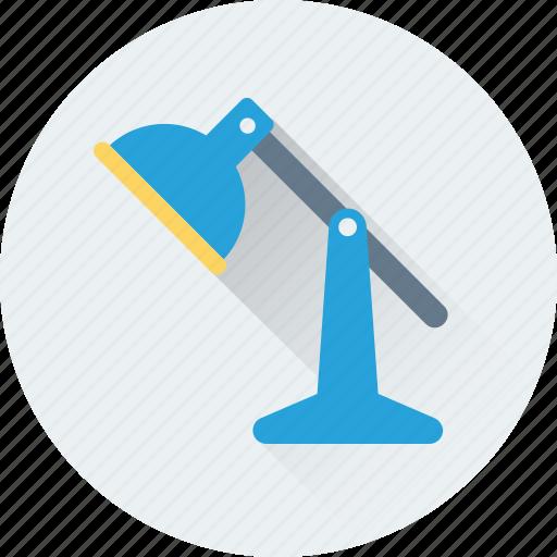 desk lamp, desk light, lamp, light, table lamp icon