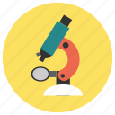 biology, education, microscope, study icon