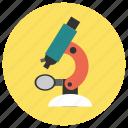 biology, education, microscope, study icon