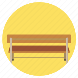 bench, education, rest, sit icon