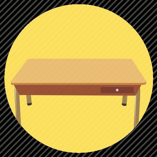 desk, education icon