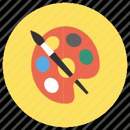 art, artist, brush, draw, paint icon