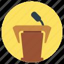 education, podium, speech icon