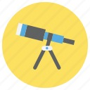 education, research, telescope icon