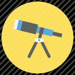 education, research, telescope icon