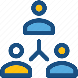 group, hierarchal structure, people, people hierarchy, team icon
