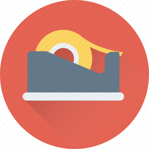 adhesive tape, office supplies, scotch tape, sticky tape, tape dispenser icon