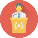 classroom, dais, rostrum, seminar, speech icon