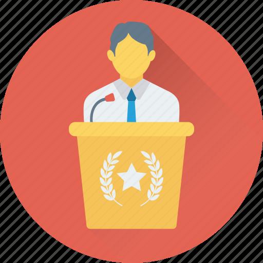 classroom, dais, rostrum, seminar, speech icon