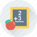 education, learning, math, reading, study icon