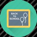 blackboard, back to school, notes board, study, learning