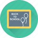 back to school, blackboard, learning, notes board, study icon