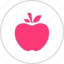 apple, fruit, staff, teacher icon