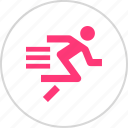 athletics, run, sports, sprint icon