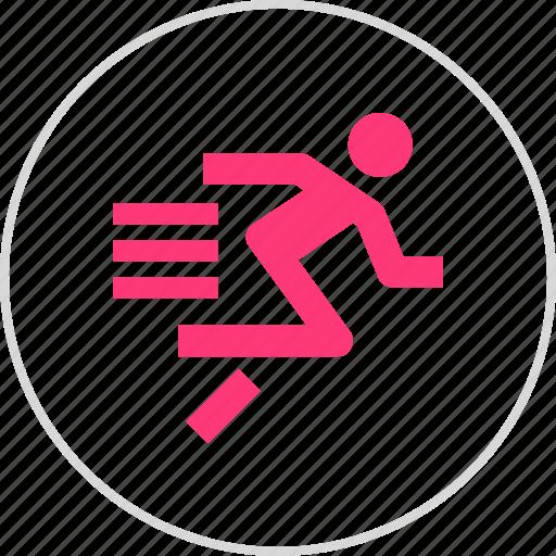 athletics, run, sports, sprint icon